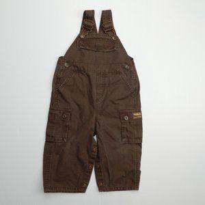 Oshkosh B'Gosh Boys 18 Months brown Cargo Overalls